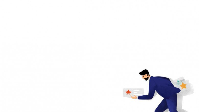 playful presentation background in white with people illustration