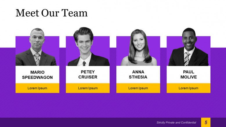 Meet The Team Slide with profile images