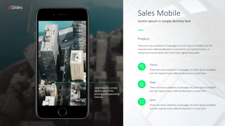 Sales mobile slide