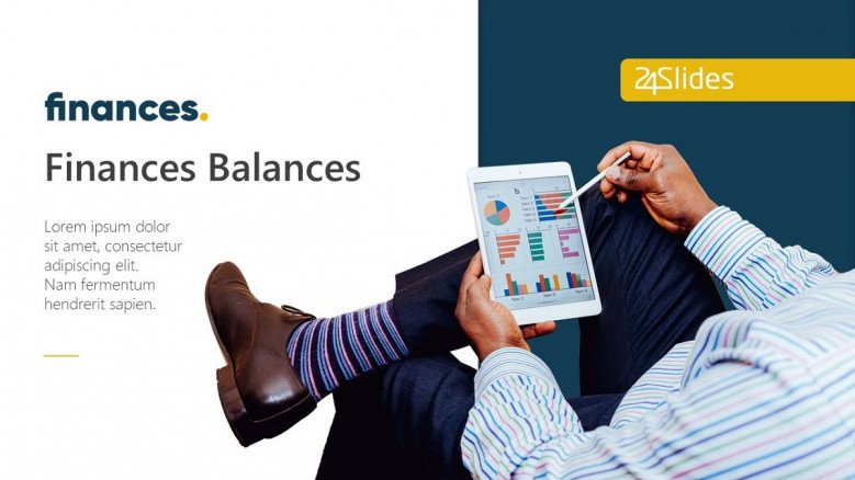 finance and business in creative style welcome slide