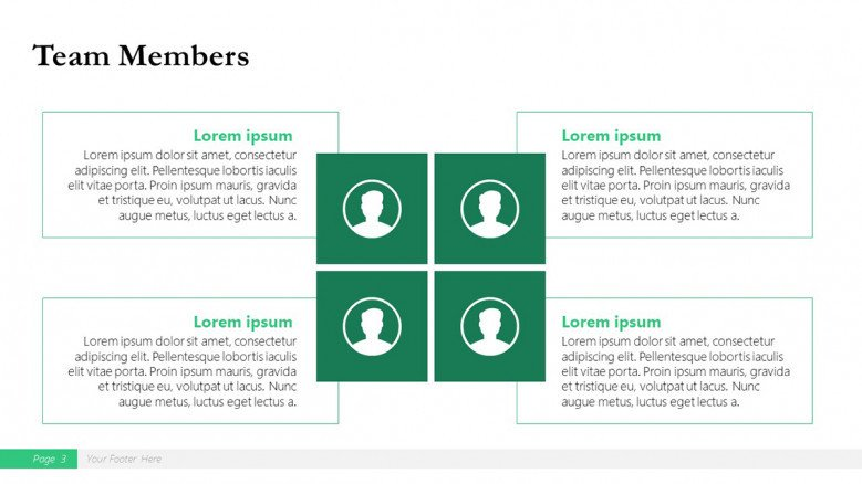 Team Slide for a Boston Consulting Group Presentation