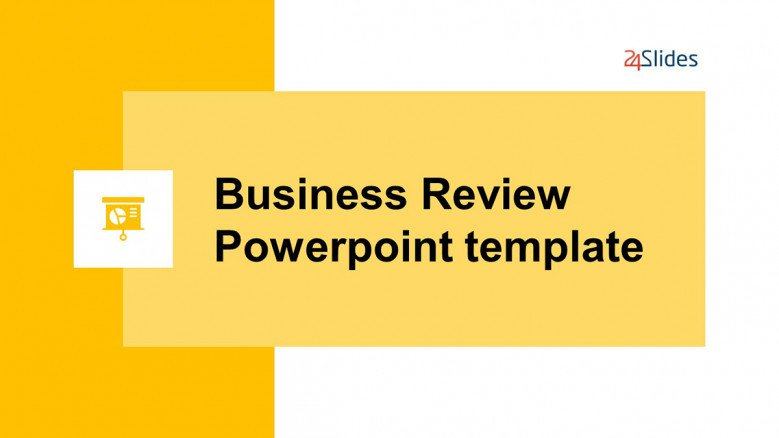 Yellow Business Review PowerPoint Template