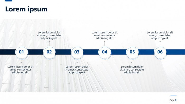 Project Timeline of six steps