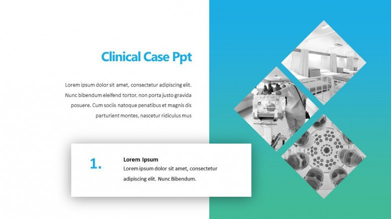 PowerPoint Slide for Clinical Case Study Presentation