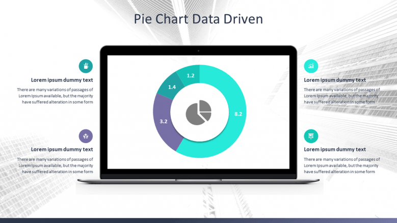 data driven pie chart in mobile app