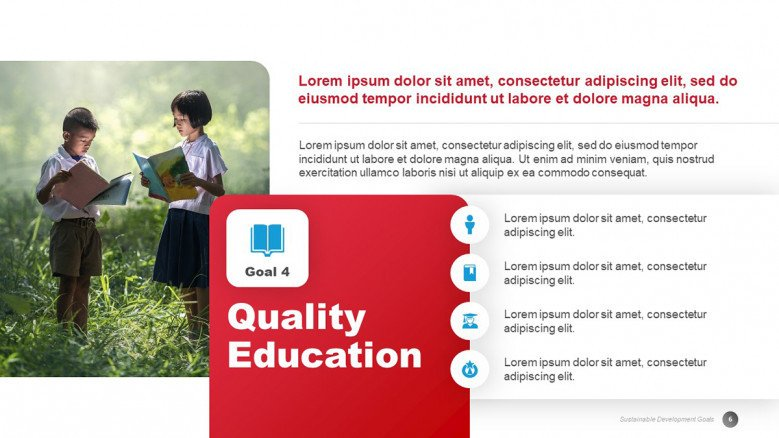 Quality Education Slide from the 17 SDGs