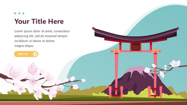 Playful Text Slide for a Japanese-themed presentation