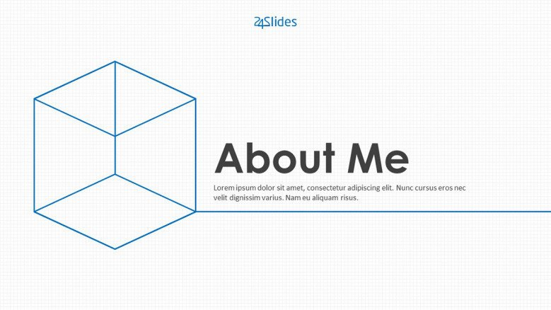 welcome slide for about me presentation