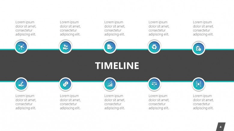 timeline slide in chronological time frame