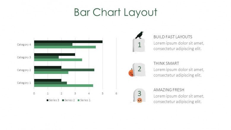 bar chart layout creative slide for halloween theme presentation