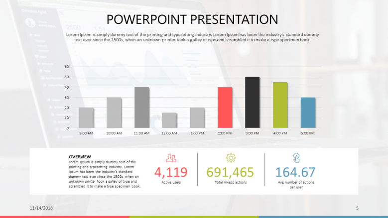 generic data driven free powerpoint template