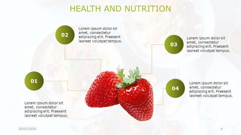 Healthy Food Slide to highlight benefits