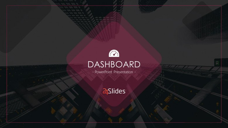 dashboard welcome slide in corporate style