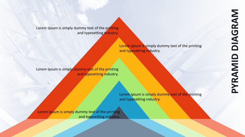 colorful pyramid diagram