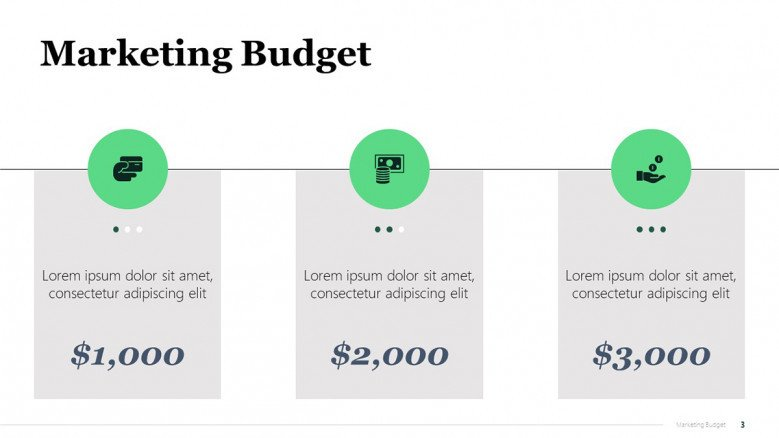 Marketing Campaign Budget Summary Slide in PowerPoint