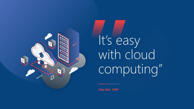 Quote Slide for a Cloud Computing Presentation