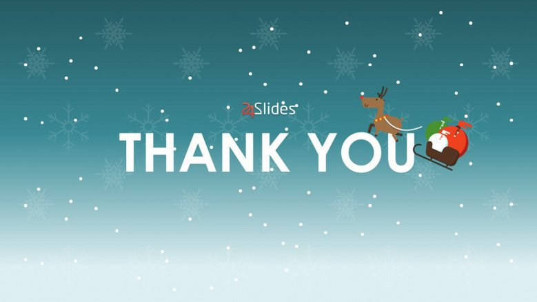 thank you slide in christmas theme presentation