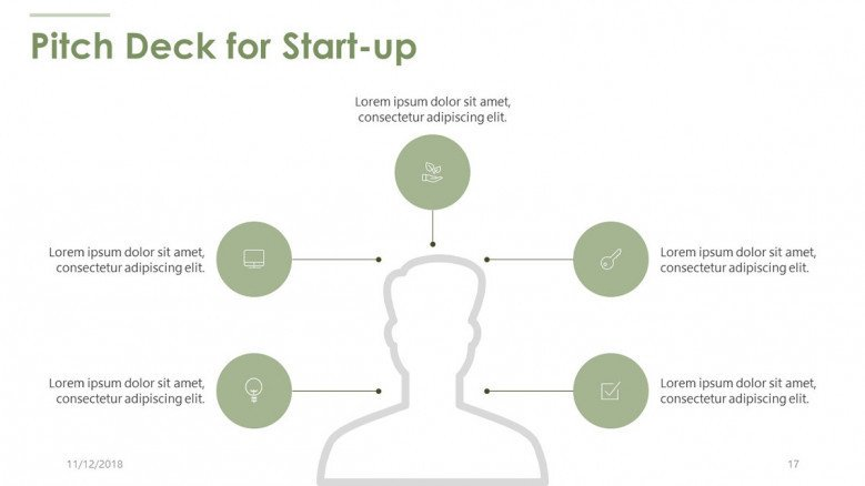 pitch deck for start up with personal infographic