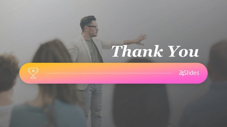 Thank You Slide in creative style