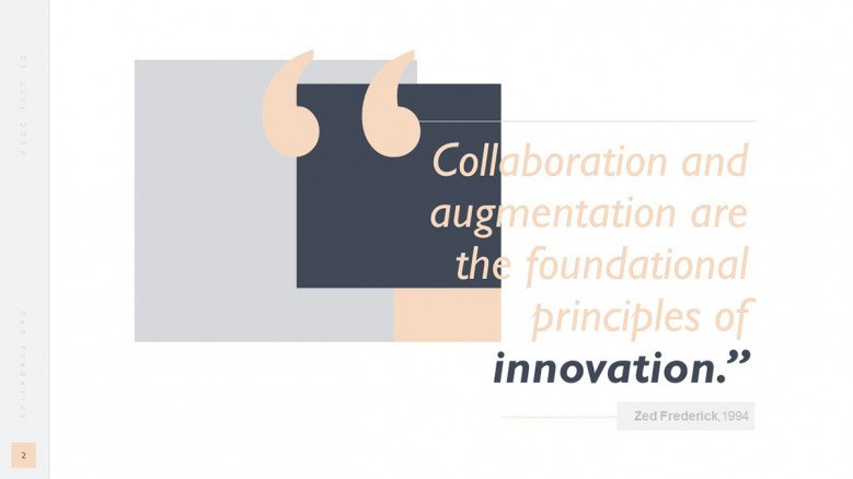 Creative Innovation Quote Slide