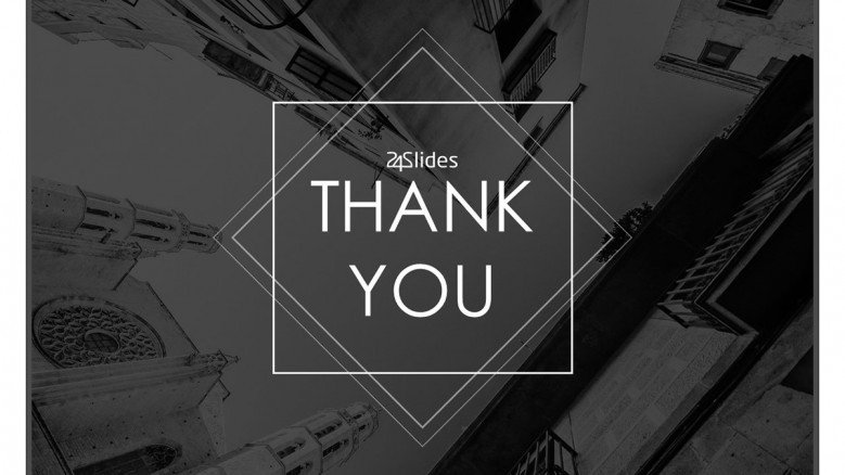 thank you slide corporate style with picture