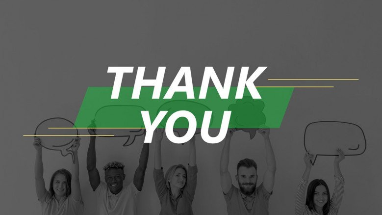 Dark-themed Thank You Slide in creative style