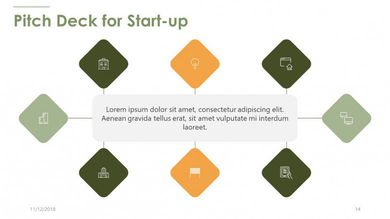 pitch deck for startup diagram with icons