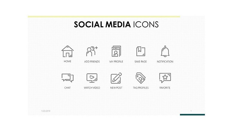 corporate social media icons