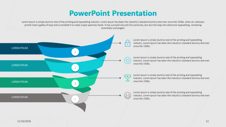 consulting presentation in funnel chart