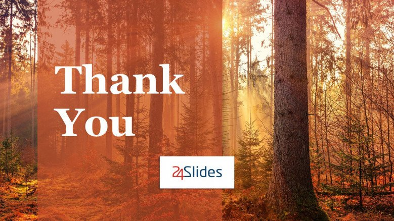 Thank You PowerPoint Slide with Fall Background