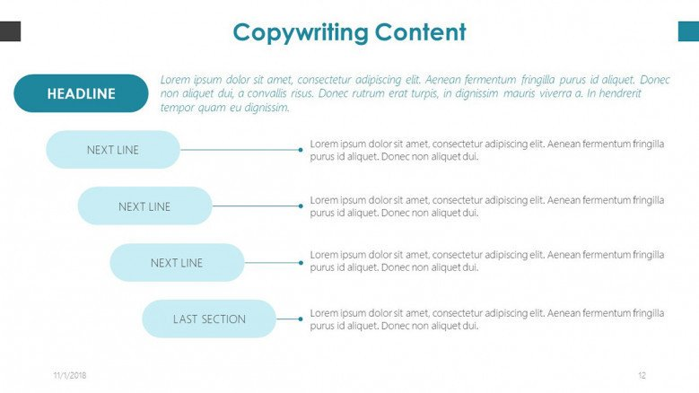 content structure in copy writing