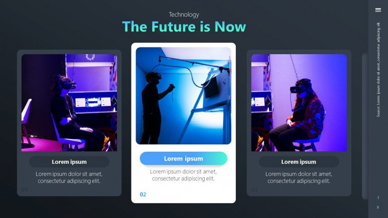 The future is now slide with images