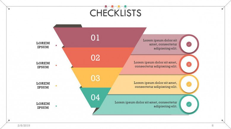 checklist presentation in pyramid diagram