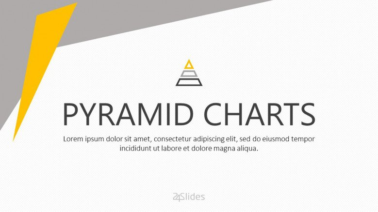 welcome slide for pyramid chart presentation