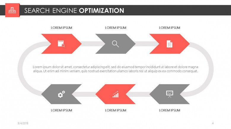 search engine optimization slide for digital marketing presentation in chart