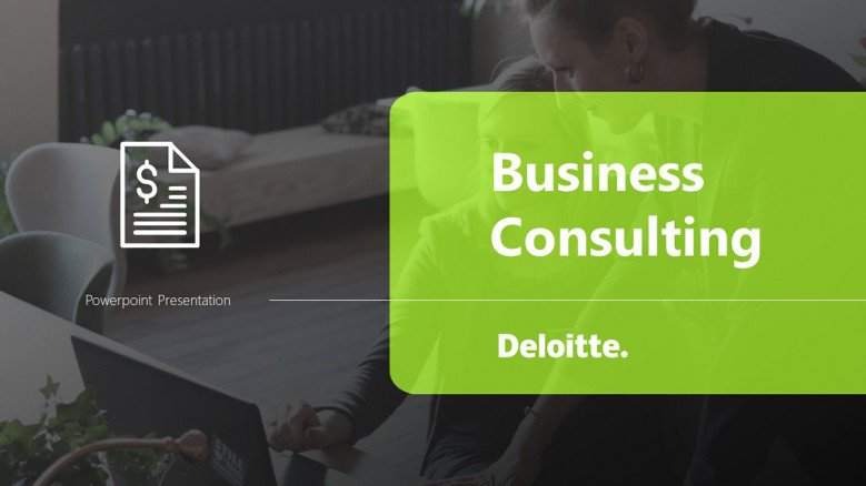 Business Consulting Template in Deloitte Style