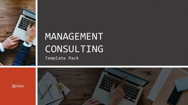 welcome slide for management consulting presentation in corporate style