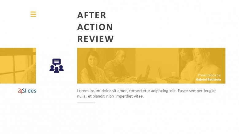 Title Slide for a After-Action Review Report