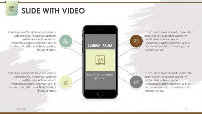 slide with video mobile app in iphone