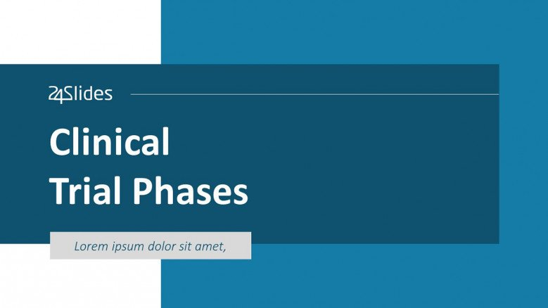 Clinical Trial Phases PowerPoint Slide in corporate style