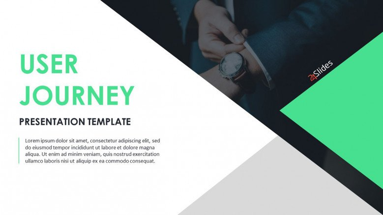 Corporate User journey cover template