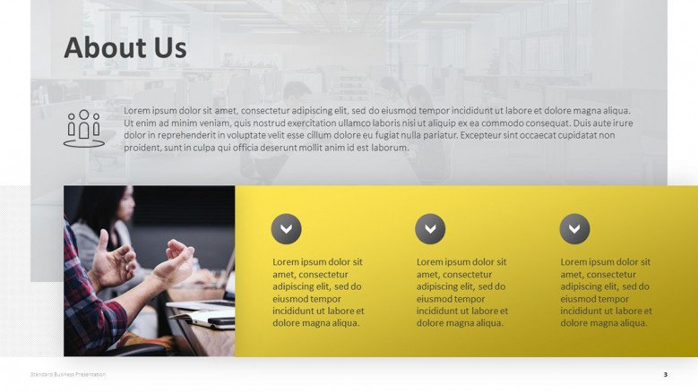 About Us Slide for Business Presentations