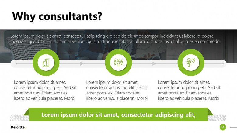 Deloitte PowerPoint template for business consultants