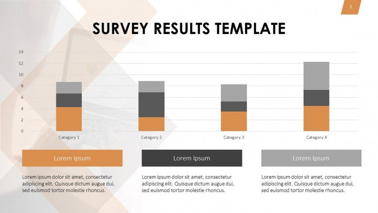 Data-driven stacked bars for survey results