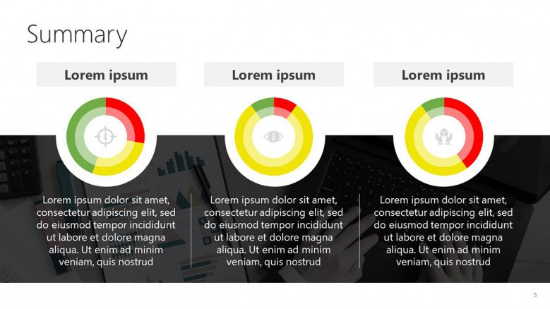 Business Dashboard with circle charts