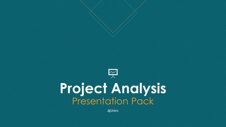 Welcome slide for project analysis presentation corporate style