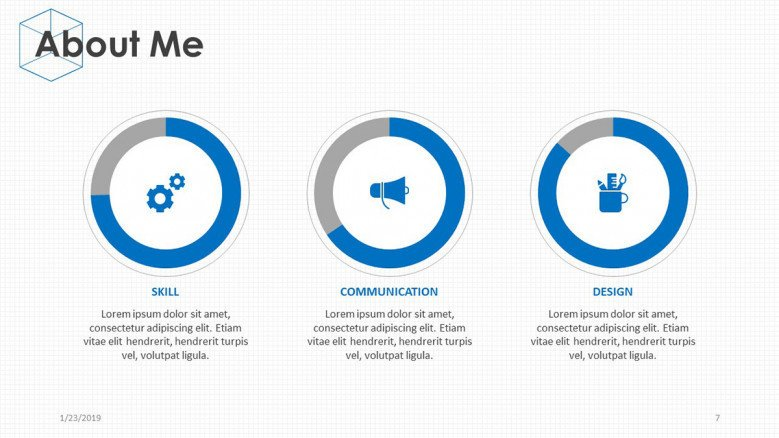 about me presentation with pie chart