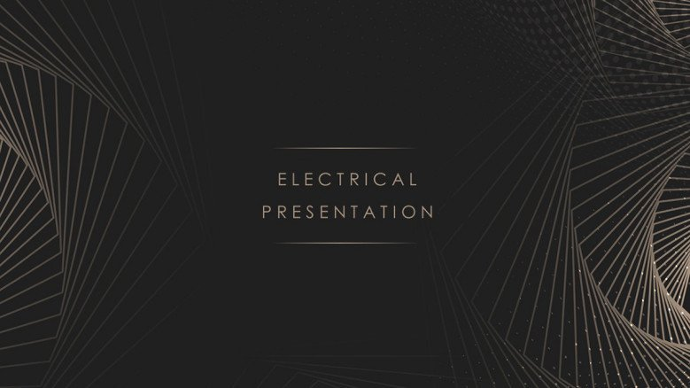 Dark-themed Electric Power Company PowerPoint Template