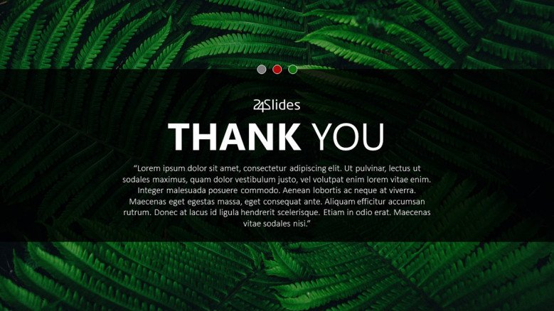tropical green thank you contemporary slide
