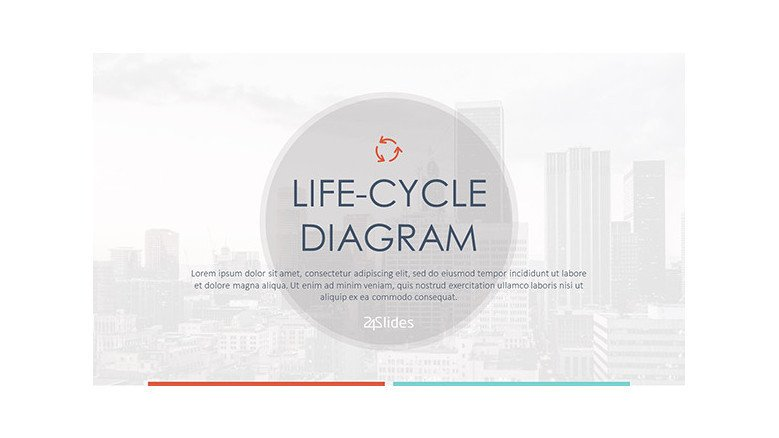 life-cycle diagram welcome slide in corporate style